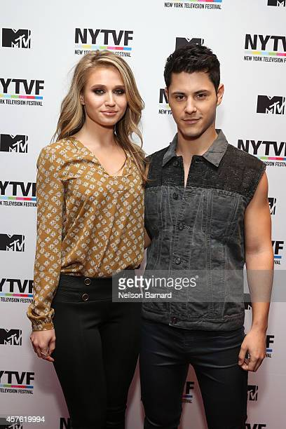 Actors Rita Volk and Michael Willett attend the New York Television Festival panel 'Teenage Wasteland Navigating High School With The Next MTV...