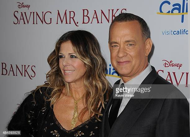 Actors Rita Wilson and Tom Hanks attend the US premiere of Disney's Saving Mr Banks the untold backstory of how the classic film Mary Poppins made it...