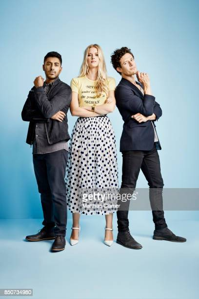 Actors Ritesh Rajan Emma Ishta and Kyle Harris from Stitchers are photographed for Entertainment Weekly Magazine on July 20 2017 at Comic Con in San...