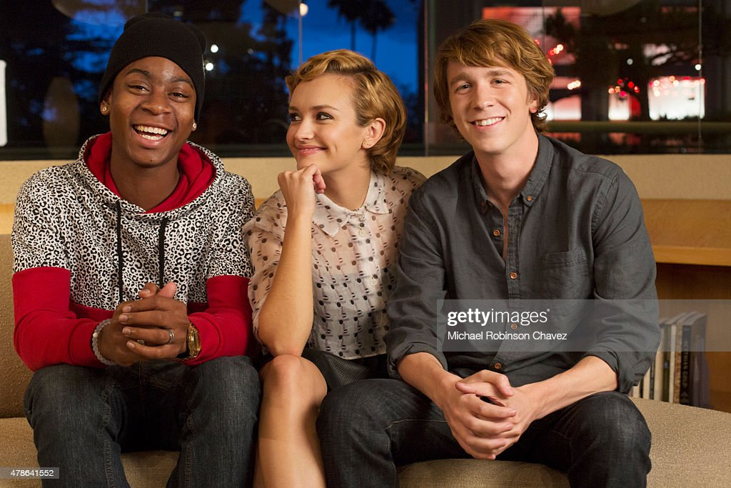 RJ Cyler, Olivia Cooke, and Thomas Mann, LA Times, June 15, 2015