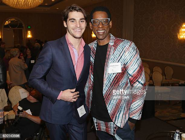 Actors RJ Mitte and Orlando Jones attend the Ruderman Studio-Wide Roundtable On Disability Inclusion at Four Seasons Hotel Los Angeles at Beverly...