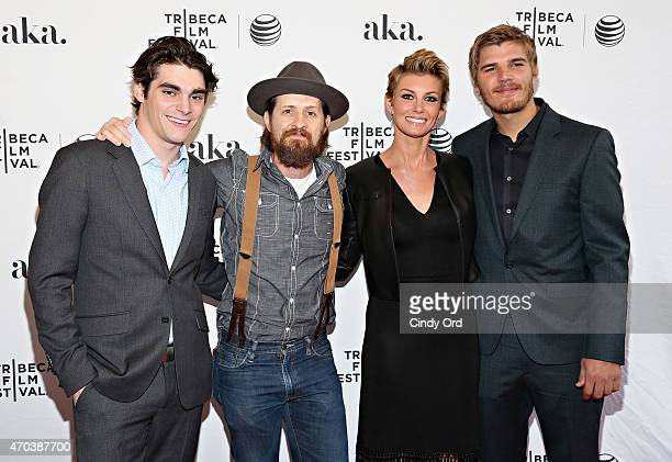 """Actors RJ Mitte, Brad Carter, Faith Hill and Chris Zylka attend the """"Dixieland"""" Premiere during the 2015 Tribeca Film Festival at SVA Theater on..."""
