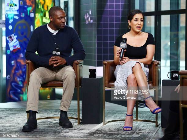 Actors Rob Brown and Audrey Esparza discuss the NBC drama Blindspot at Build Studio on April 16 2018 in New York City
