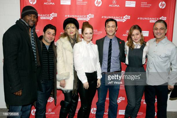 Actors Rob Brown Jeremy Luke Glenne Headly and Julianne Moore actor/director Joseph GordonLevitt and actors Brie Larson and Tony Danza attend 'Don...
