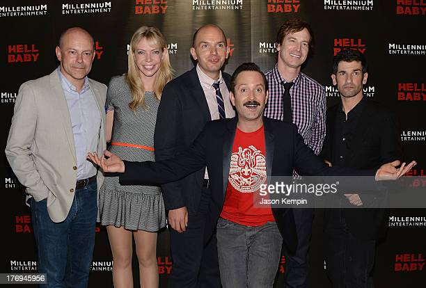 Actors Rob Corddry Riki Lindhome Paul Scheer Thomas Lennon Rob Huebel and Robert Ben Garant attend the premiere of Millennium Entertainment's Hell...