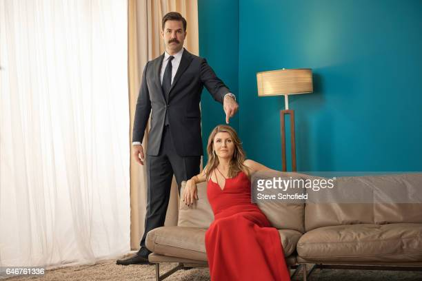 Actors Rob Delaney and Sharon Horgan are photographed for Emmy magazine on September 18 2016 in Los Angeles California