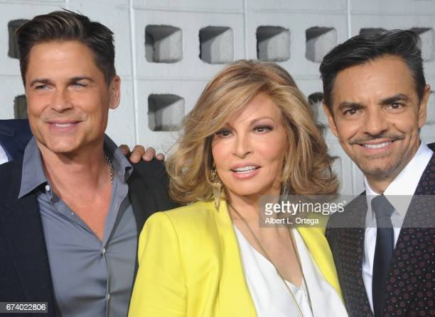 Actors Rob Lowe Raquel Welch and Eugenio Derbez arrive for the Premiere Of Pantelion Films' How To Be A Latin Lover held at ArcLight Cinemas Cinerama...