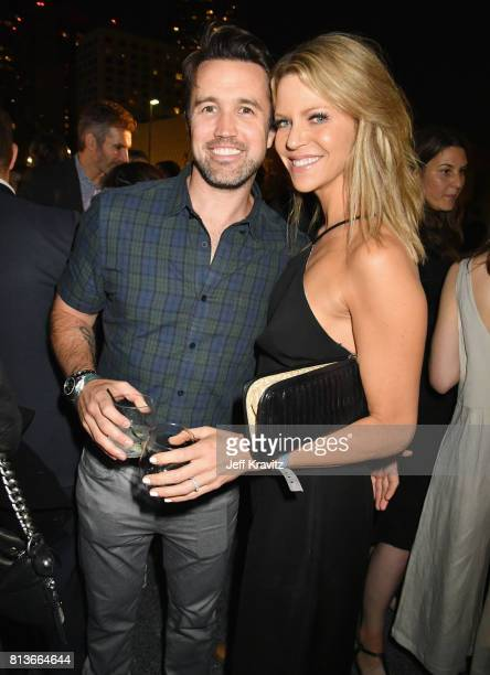 Actors Rob McElhenney and Kaitlin Olson at the Los Angeles Premiere for the seventh season of HBO's 'Game Of Thrones' at Walt Disney Concert Hall on...