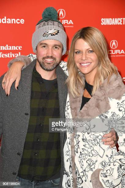 Actors Rob McElhenney and Kaitlin Olson attend the 'Arizona' Premiere during 2018 Sundance Film Festival at Egyptian Theatre on January 20 2018 in...
