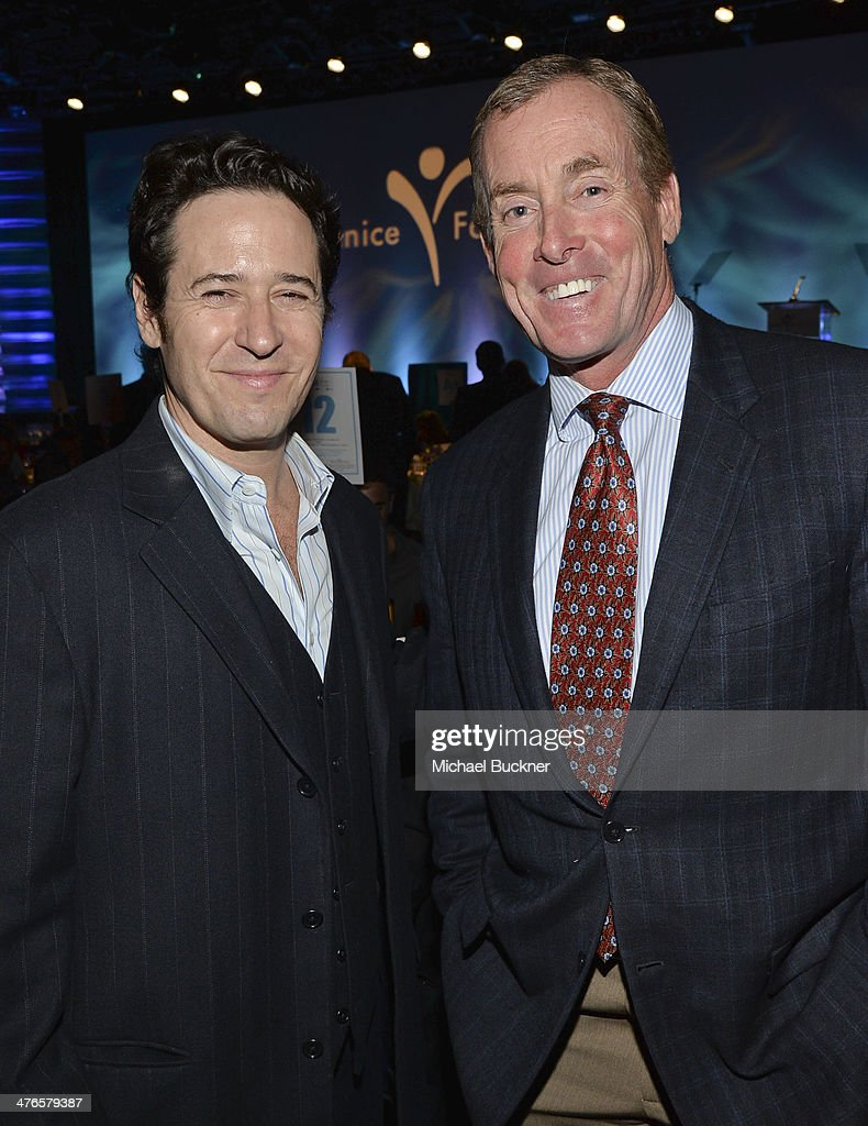 Actors Rob Morrow and John C. McGinley attend the Visionary Award at the Venice Family Clinic's 32nd Annual Silver Circle Gala at The Beverly Hilton Hotel on March 3, 2014 in Beverly Hills, California.