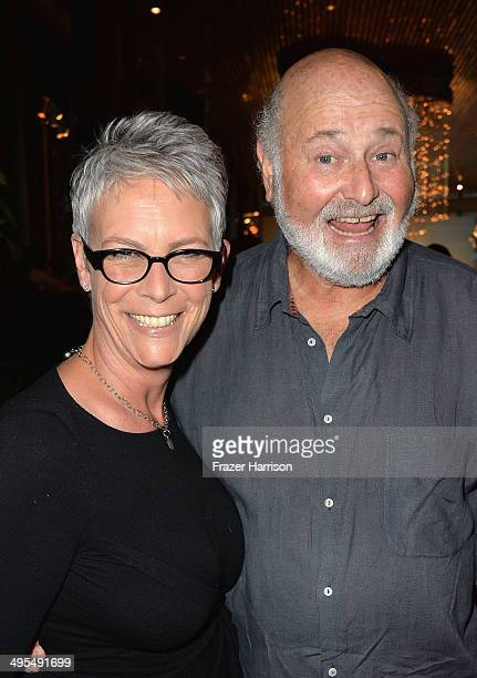 Actors Rob Reiner and Jamie Lee Curtis attend Los Angeles Premiere Of HBO Documentary The Case Against 8 reception at Directors Guild Of America on...
