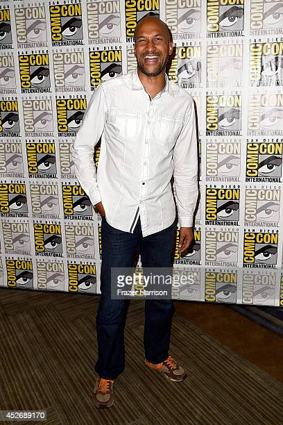 Actors Rob Riggle and Keegan-Michael Key attend 20th Century Fox Press Line during Comic-Con International 2014 at Hilton Bayfront on July 25, 2014...