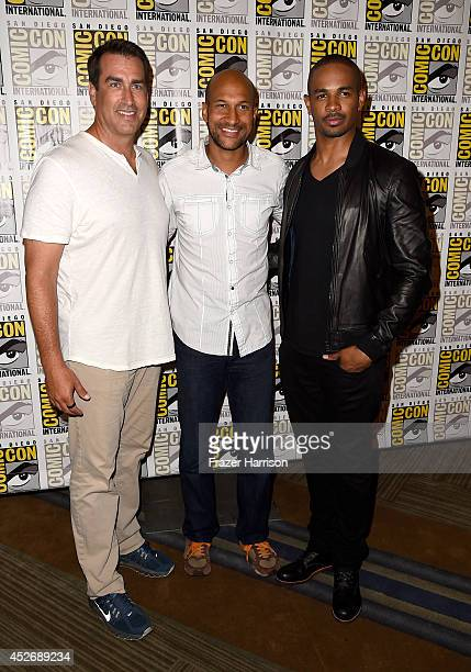 Actors Rob Riggle, Keegan-Michael Key and Damon Wayans Jr. Attend 20th Century Fox Press Line during Comic-Con International 2014 at Hilton Bayfront...