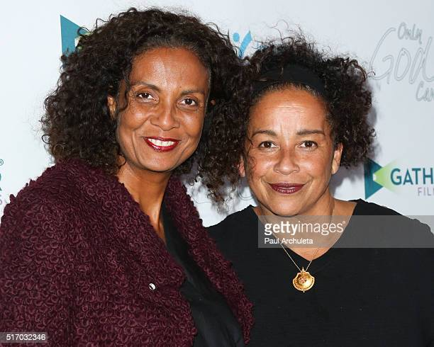 Actors Robbi Chong and Rae Dawn Chong attend the premiere of Only God Can at Laemmle NoHo 7 on March 22 2016 in North Hollywood California