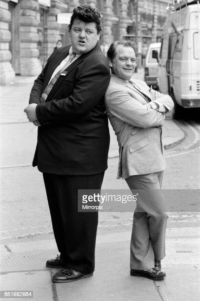 Actors Robbie Coltrane and David Jason Both are nominated for the BAFTA TV award for best actor which David Jason went on to win February 1988