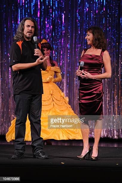 Actors Robby Benson and Paige O'Hara introduce the 'Beauty and the Beast' SingALong DVD premiere at the El Capitan theater on October 2 2010 in Los...