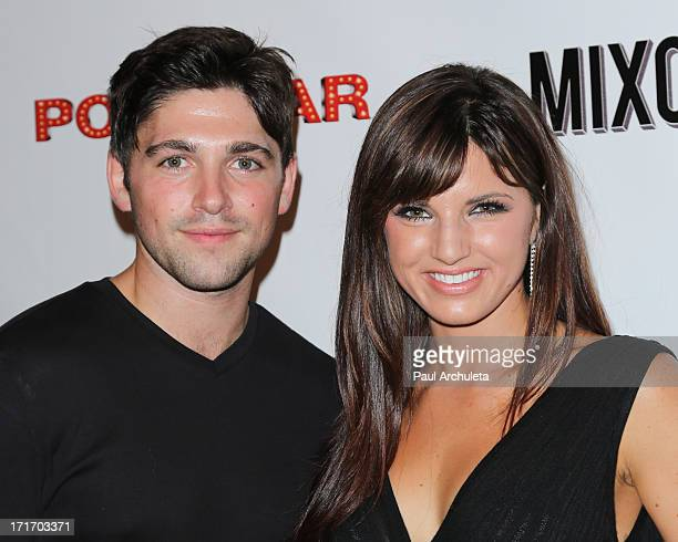 Actors Robert Adamson and Rachele Brooke Smith attend the premiere party for Pop Star at Mixology101 Planet Dailies on June 27 2013 in Los Angeles...