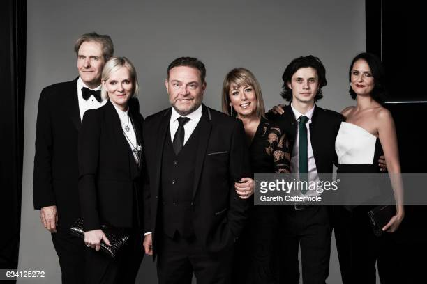 Actors Robert Bathurst Hermione Norris John Thomson Fay Ripley Matthew Williams and Helen Baxendalefrom TV Show 'Cold Feet' attend the National...