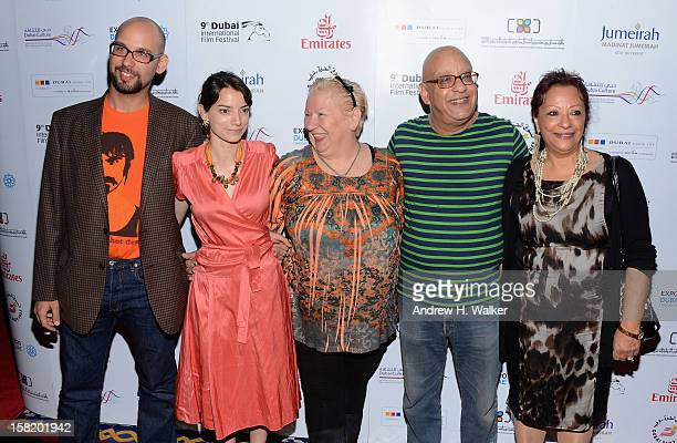 "Actors Robert Beshara, Maria Garrido, Jadwiga Kowalczyk, director Khairy Beshara and actress Sanaa B Fahmy attend the ""Moondog"" premiere during day..."