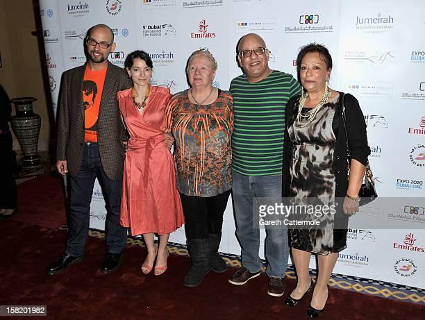Actors Robert Beshara Maria Garrido Jadwiga Kowalczyk director Khairy Beshara and actress Sanaa B Fahmy attend the Moondog premiere during day three...