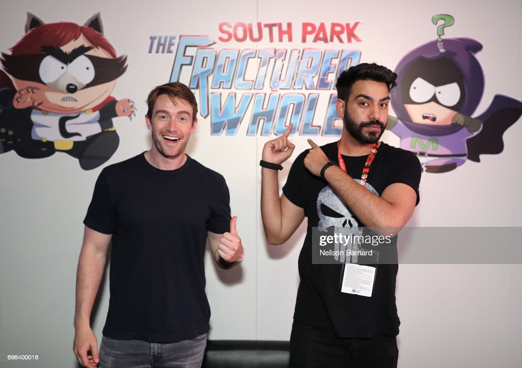 Actors Robert Buckley (L) and Rahul Kohli attend E3 2017 at Los Angeles Convention Center on June 15, 2017 in Los Angeles, California.
