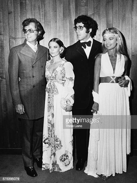 Actors Robert Culp Natalie Wood Elliot Gould and Dyan Cannon promoting the film 'Bob and Carol and Ted and Alice' at the New York Film Festival circa...