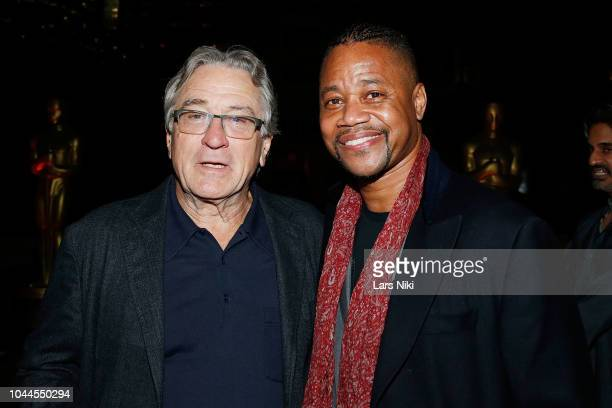 Actors Robert De Niro and Cuba Gooding Jr attend The Academy of Motion Picture Arts and Sciences 2018 New Members Party at Top of the Rock's 620 Loft...