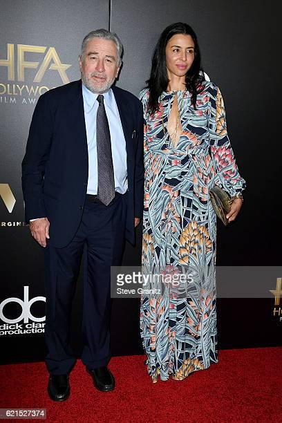 Actors Robert De Niro and Drena De Niro attend the 20th Annual Hollywood Film Awards on November 6 2016 in Los Angeles California