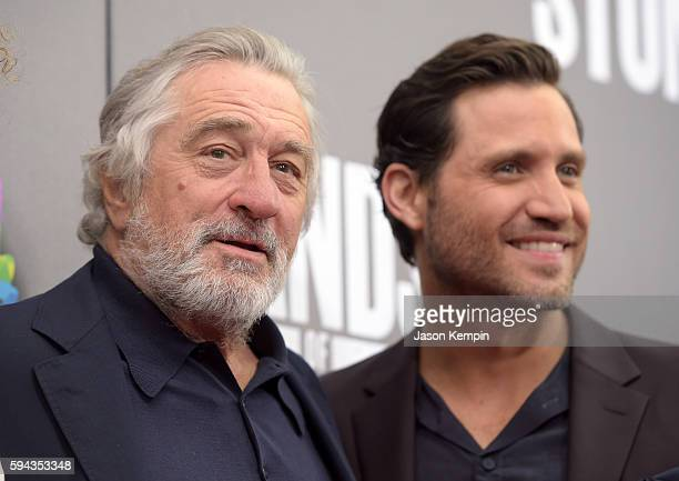 Actors Robert De Niro and Edgar Ramirez attend the New York Premiere Of 'Hands Of Stone' in Partnership with DeLeon Tequila NetJets The Redbury New...