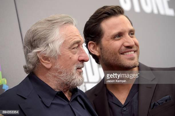 Actors Robert De Niro and Edgar Ramirez attend the New York Premiere Of Hands Of Stone in Partnership with DeLeon Tequila NetJets The Redbury New...