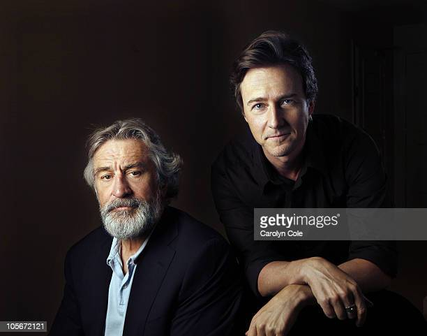Actors Robert De Niro and Edward Norton pose at a portrait session for the Los Angeles Times in Toronto CAN on October 3 2010 Published Image CREDIT...