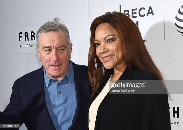 Actors Robert De Niro and Grace Hightower at The First Monday In May World Premiere 2016 Tribeca Film Festival Opening Night at John Zuccotti Theater...