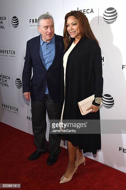 Actors Robert De Niro and Grace Hightower at 'The First Monday In May' World Premiere 2016 Tribeca Film Festival Opening Night at John Zuccotti...