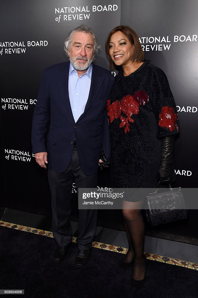 Actors Robert De Niro (L) and Grace Hightower attend 2015 National Board of Review Gala at Cipriani 42nd Street on January 5, 2016 in New York City.