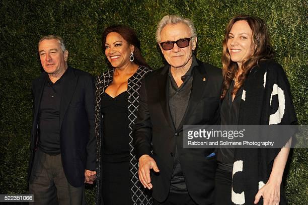 Actors Robert De Niro Grace Hightower Harvey Keitel and Daphna Kastner attend 11th Annual Chanel Tribeca Film Festival Artists Dinner at Balthazar on...
