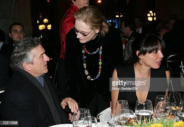 Actors Robert De Niro Meryl Streep and Drena DeNiro attend the Kagenoorg benefit at Guastavino's October 30 2006 in New York City