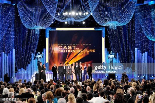 Actors Robert De Niro Michael Pena Alessandro Nivola Jeremy Renner Colleen Camp Elisabeth Rohm Bradley Cooper Jennifer Lawrence Amy Adams and Paul...
