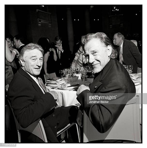Actors Robert Deniro and Harvey Keitel are photographed at the Tribeca Film Festival for Vanity Fair Magazine on April 21 2009 in New York City...