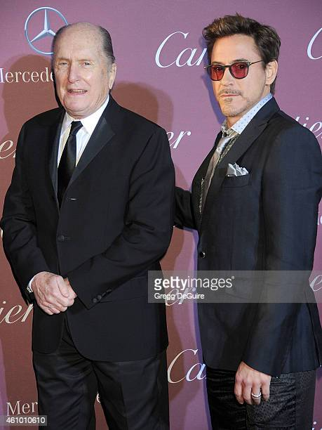 Actors Robert Duvall and Robert Downey Jr arrive at the 26th Annual Palm Springs International Film Festival Awards Gala Presented By Cartier at Palm...