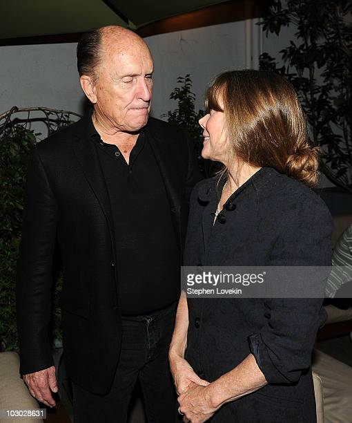 Actors Robert Duvall and Sissy Spacek attend The Cinema Society Sony Alpha Nex screening after party for Get Low at the Soho Grand Hotel on July 21...