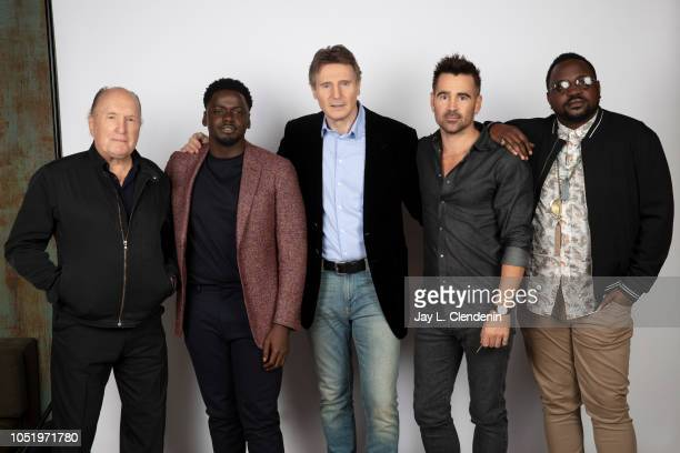 Actors Robert Duvall Daniel Kaluuya Liam Neeson Colin Ferrell and Brian Tyree Henry from 'Widows' are photographed for Los Angeles Times on September...