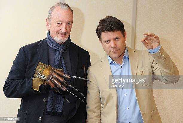 Actors Robert Englund and Sean Astinattend a press conference of the Hollywood Collectors' Convention at Hotel Grand Palace on May 2 2013 in Tokyo...
