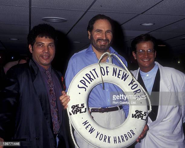 Actors Robert Hegyes Gabe Kaplan and Ron Pallilo attend Welcome Back Kotter Reunion Benefiting Party on July 11 1995 aboard the Spirit of New York in...