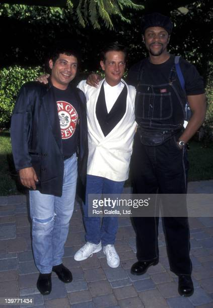 Actors Robert Hegyes Ron Pallilo and Lawrence Hilton Jacobs attend Fourth Annual MTV Movie Awards on June 10 1995 at Warner Brothers Studios in...