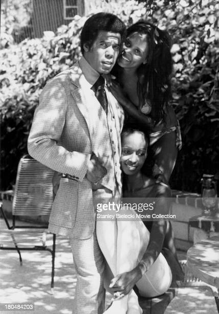 Actors Robert Hooks and Paula Kelly in a scene from the movie 'Trouble Man' 1972
