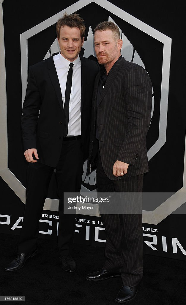 Actors Robert Kazinsky (L) and Max Martini arrive at the 'Pacific Rim' - Los Angeles Premiere at Dolby Theatre on July 9, 2013 in Hollywood, California.
