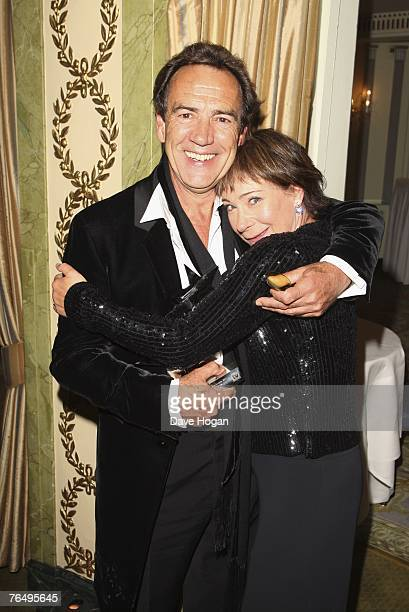 Actors Robert Lindsay and Zoe Wanamaker pose with their award for Best Comedy Show My Family at the 2007 TV Quick and TV Choice Awards at the...