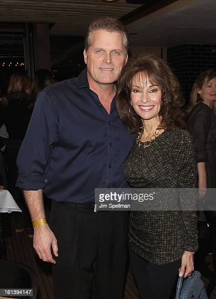 Actors Robert Newman and Susan lucci attend the Spontaneous Construction premiere at Guys American Kitchen Bar on February 10 2013 in New York City