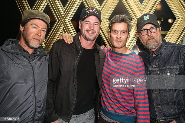 "Actors Robert Patrick, Eric Dane, Balthazar Getty and photographer Patrick Hoelck attend the Balthazar Getty record release party for ""Solardrive""..."