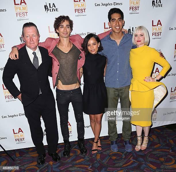 Actors Robert Patrick, Robert Sheehan, Zoe Kravitz and Dev Patel and writer/director Gren Wells attend the 2014 Los Angeles Film Festival screening...